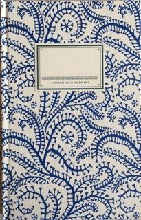 Cambridge Imprint Hardback Notebook Seaweed Paisley Prussian blue