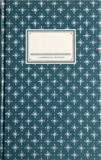Cambridge Imprint Hardback Notebook Little Stars petrol blue