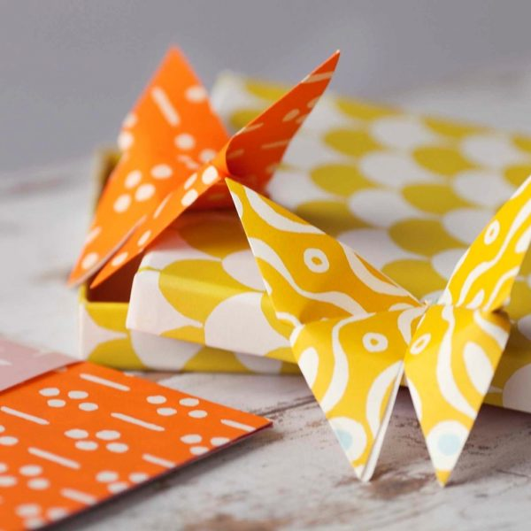 yellow-orange-origami-butterflies