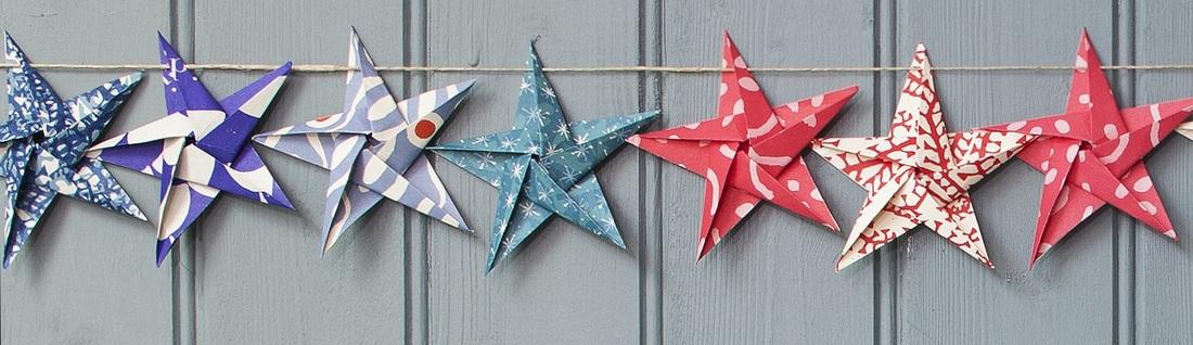 Cut + fold paper stars | MINI ECO | 318x1100