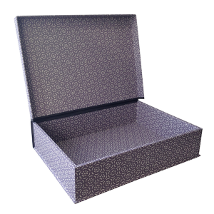 A4 Box File Small Pear Halves Lavender Grey by Cambridge Imprint