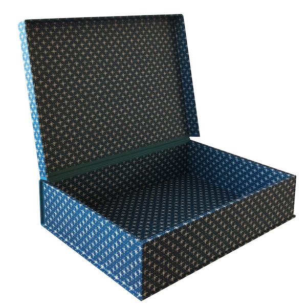 A5 Box File Little Stars Petrol Blue by Cambridge Imprint