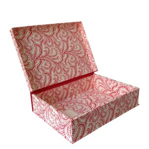 A4 Box File Seaweed Paisley Crimson by Cambridge Imprint