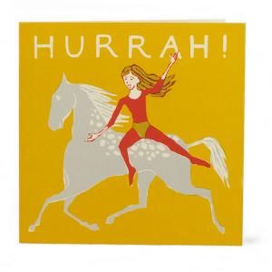 Cambridge Imprint Large Square Card Bareback Rider