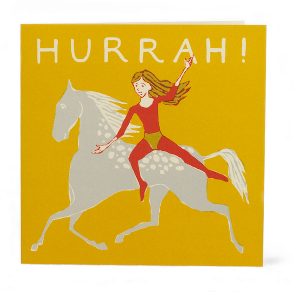 Bareback Rider Hurrah! Card by Cambridge Imprint