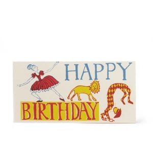 Cambridge Imprint Long Card Happy Birthday Ballerina Red