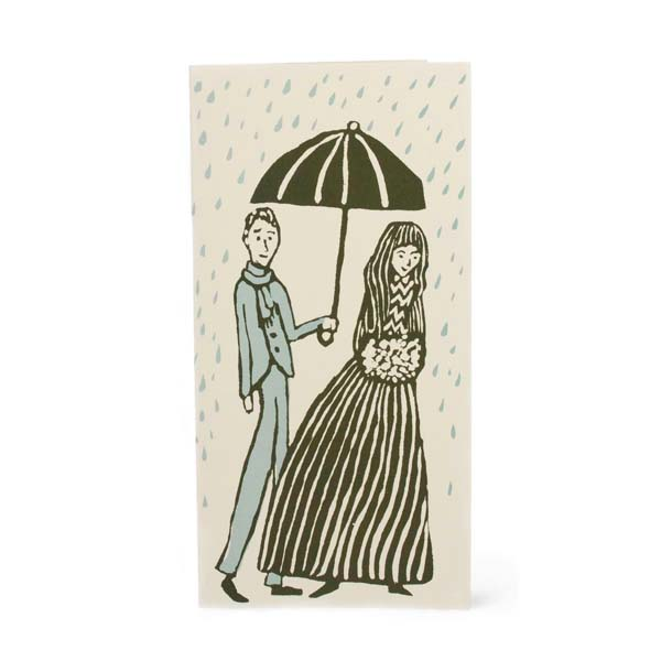 Cambridge Imprint Long Card Kind Gentleman with Umbrella