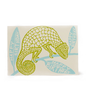 Birthday Chameleon Card by Cambridge Imprint