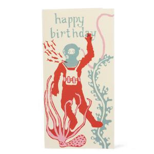 Happy Birthday Deep Sea Diver Card by Cambridge Imprint
