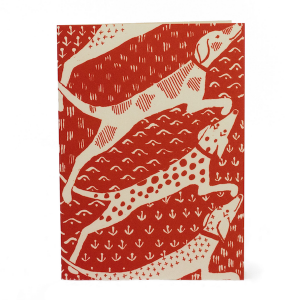 Cambridge Imprint Card Dogs coral
