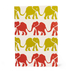 Cambridge Imprint Card Elephants red
