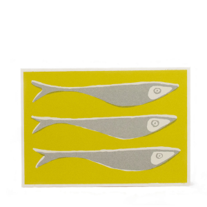 Cambridge Imprint Card Fish Acid Yellow