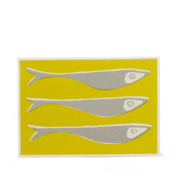 Cambridge Imprint Card Fish Acid Yellow
