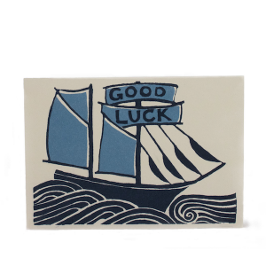Cambridge Imprint Card Good Luck Ship
