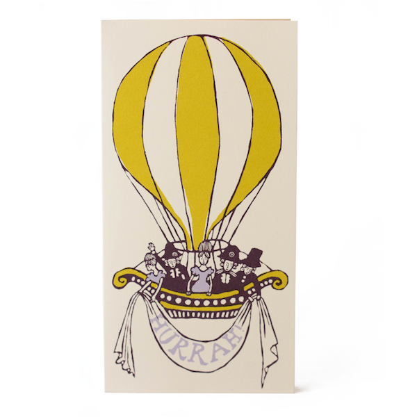 Hot Air Balloon Card by Cambridge Imprint