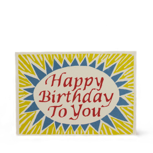 Cambridge Imprint Card Happy Birthday to You red yellow blue