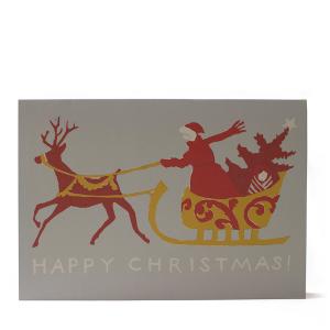 Cambridge Imprint Card Happy Christmas Sleigh