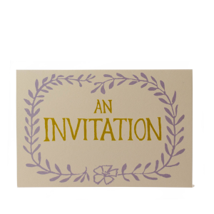Cambridge Imprint Card An Invitation