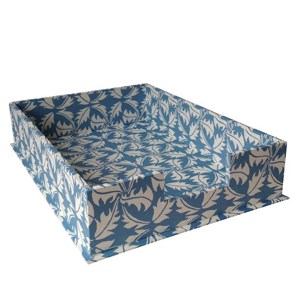 A4 Letter Tray Dandelion Blue by Cambridge Imprint