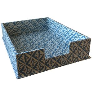 Cambridge Imprint Letter Tray Oak Leaves Blue