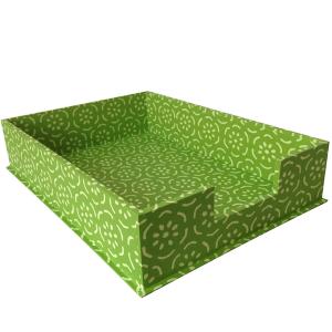 Cambridge Imprint Letter Tray Pear Halves Grass Green