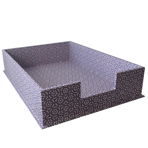 Cambridge Imprint Letter Tray Small Pear Halves Lavender Grey