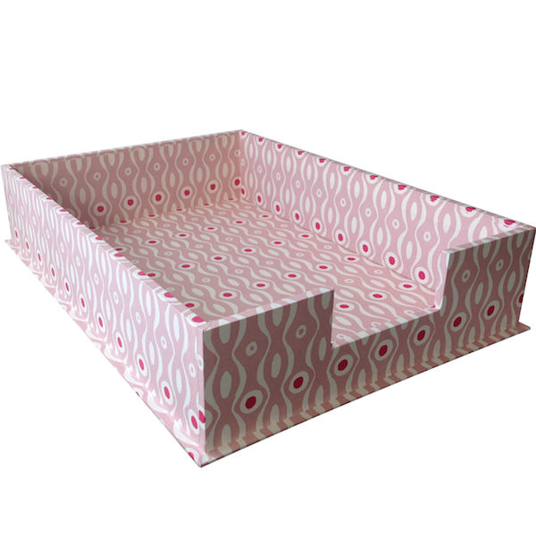 A4 Letter Tray Persephone Pink and Raspberry by Cambridge Imprint