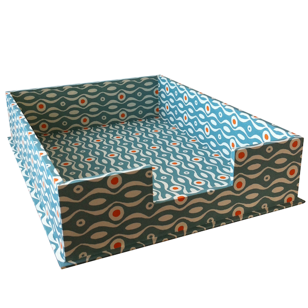 A4 Letter Tray Persephone Teal and Orange by Cambridge Imprint
