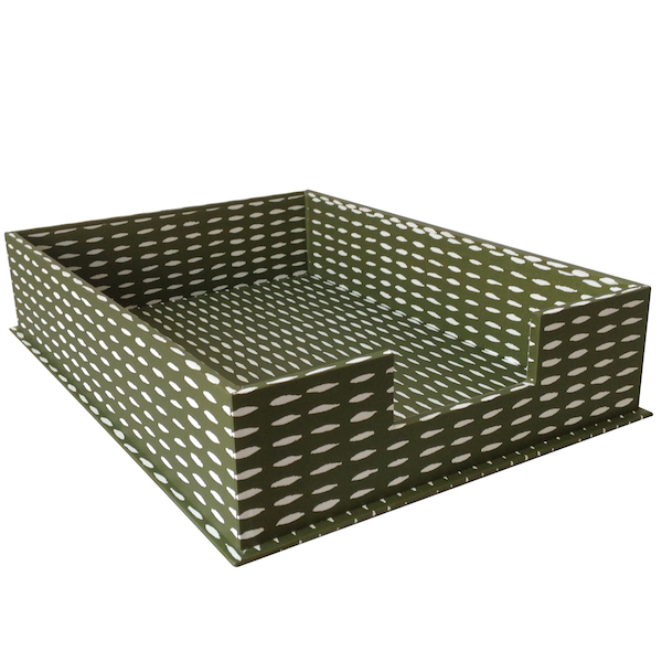 A4 Letter Tray Seed Olive by Cambridge Imprint