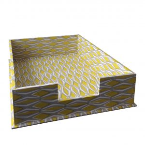 A4 Letter Tray Smocking Yellow and Grey by Cambridge Imprint