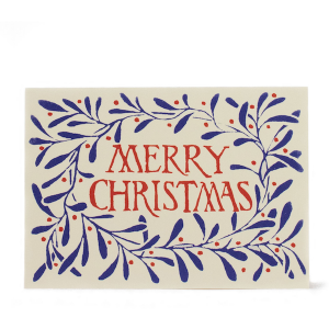 Cambridge Imprint Merry Christmas Wreath Ultramarine
