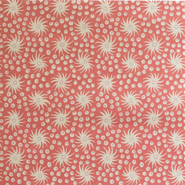Cambridge Imprint Milky Way Patterned Paper in Pink and Red