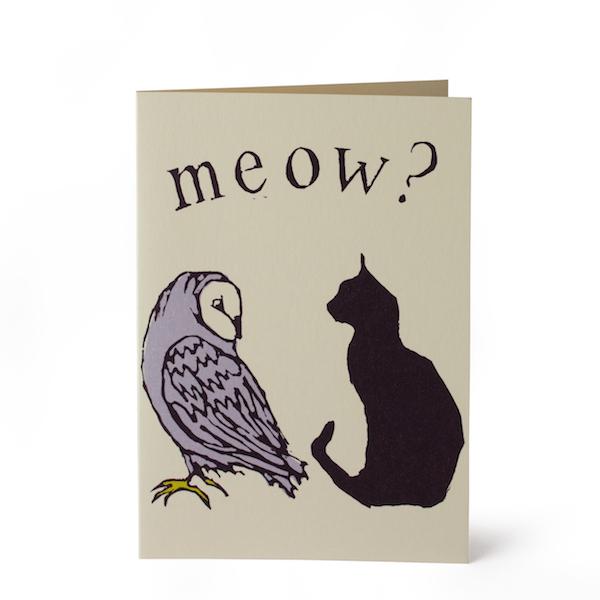 Cambridge Imprint Card Owl and Pussycat