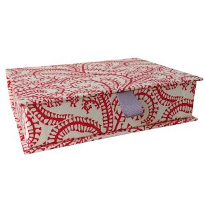Cambridge Imprint Postcard Box Seaweed Paisley