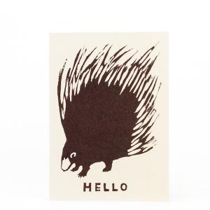 Cambridge Imprint Card Hello Porcupine