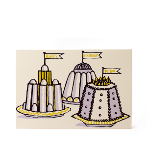 Birthday Puddings Card by Cambridge Imprint