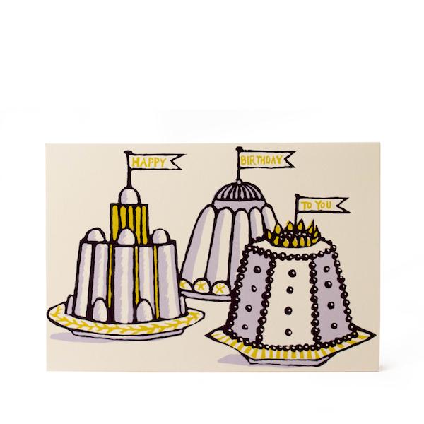 Birthday Puddings Card by Cambridge Imprint
