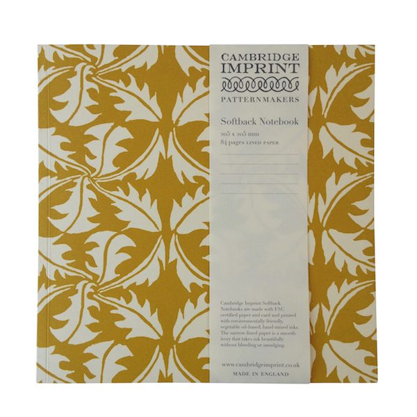Cambridge Imprint Square Dandelion Notebook with Lined Paper