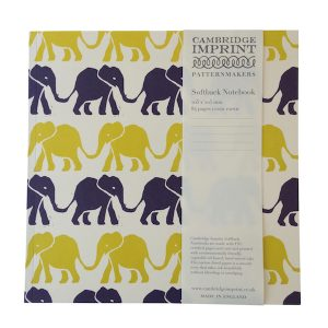 Cambridge Imprint Square Elephant Notebook with Lined Paper