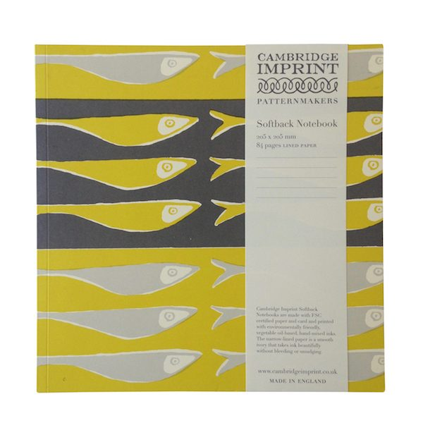 square lined notebook fish cambridge imprint