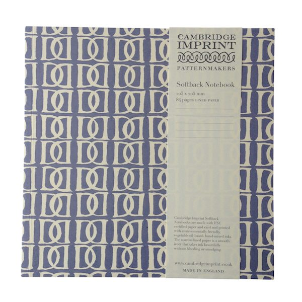 Cambridge Imprint Square Letterpress Notebook with Lined Paper