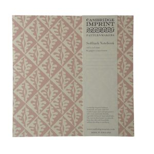 Cambridge Imprint Square Oak Leaves Notebook with Lined Paper