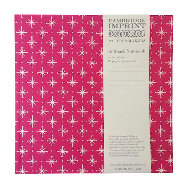 Cambridge Imprint Square Large Stars Notebook with Lined Paper