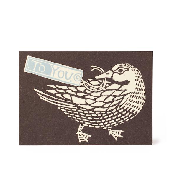 Cambridge Imprint Small Card To You Duck