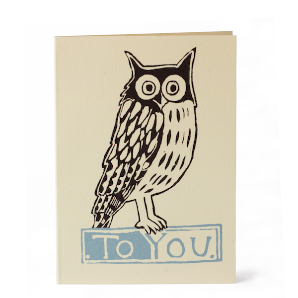 Cambridge Imprint Small Card Owl To You