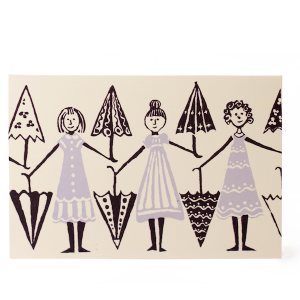 Cambridge Imprint Card Umbrella Girls