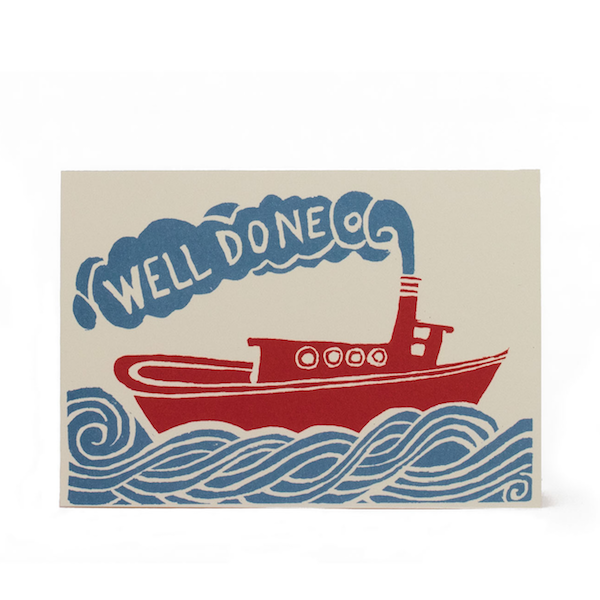 Cambridge Imprint Card Well Done Tugboat
