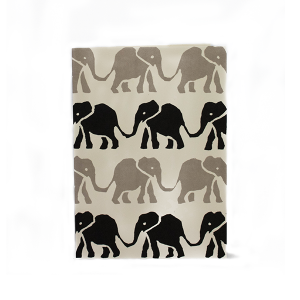 Cambridge Imprint Card Elephants black