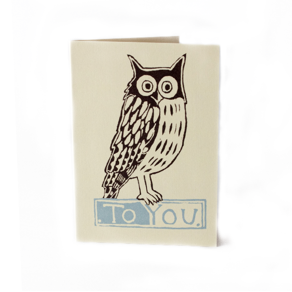 Cambridge Imprint Small Card To You Owl