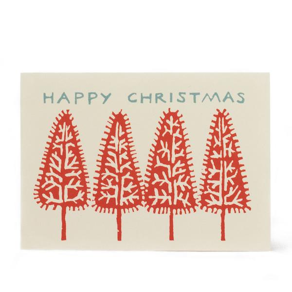 Cambridge Imprint Card Christmas Trees